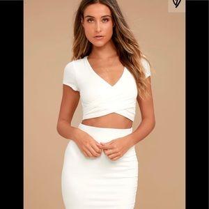 Lulu Ivory Two-Piece Dress
